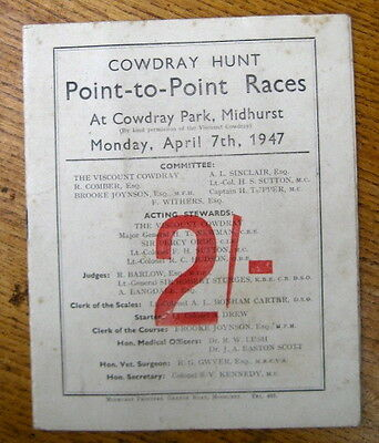 Horse Racing collectable Vintage Point to Point  Programme