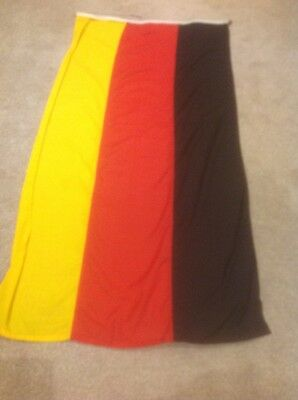 GERMAN FLAG (~6 x 2.5ft, 1.8 x 0.8m) Top quality stitched fabric