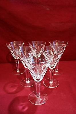 REDUCED Vintage Waterford Crystal SHEILA Claret never used 6 1/2 inches set of 6