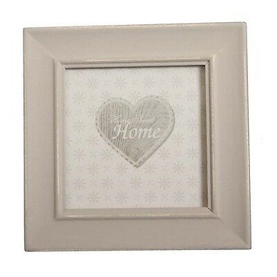 ENCHANTE VINTAGE STYLE Taupe SHABBY CHIC SMALL SQUARE PHOTO FRAME HOME