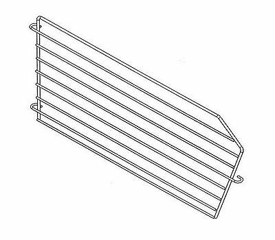 Lozier Basket Divider 8 In. X 13 In. For Use With Lozier Shelving Silver
