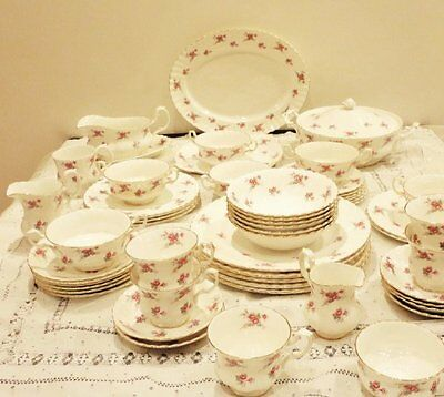 Pink Rose dinner service plates bowls teacups tureen Richmond China Rose Time
