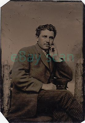 ANTIQUE TINTYPE #99 Handsome Young Man Vintage Ferrotype Gay Interest Formal
