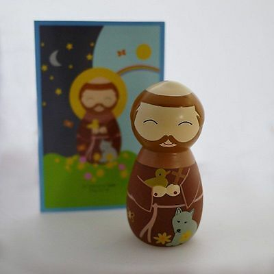 Shining Light Dolls St. Francis of Assisi Collectible Vinyl Figure Brand NEW