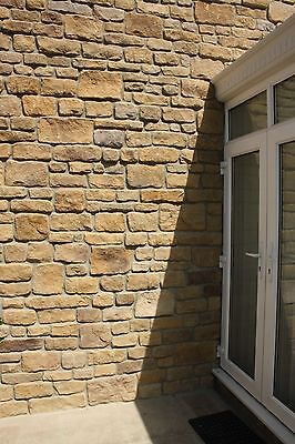 Sandstone buff wall cladding, walling stone, stone effect facing stone