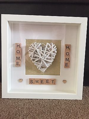 Home Sweet Home Picture Frame, Home Made, Gift, Scrabble