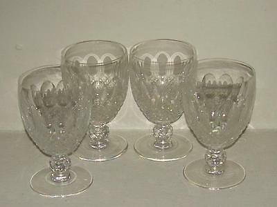 """Waterford Crystal Vintage Colleen Water Glasses /goblets (4) 5 1/8"""""""