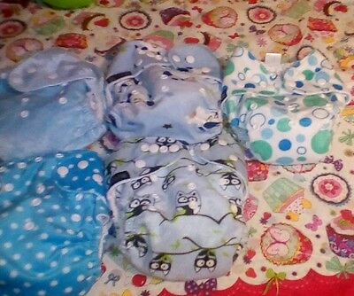 set ot 5 reusable nappies with microfibre inserts