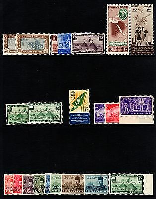 Egypt Selection of Mostly mint stamps on 2 stock pages