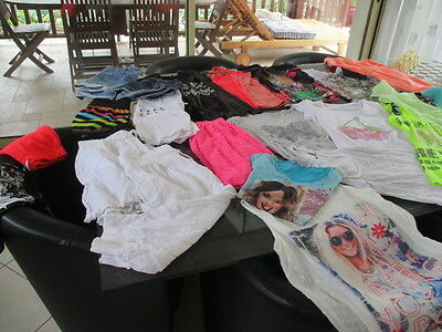 Lot De Vetements Fille 12/14 Ans   Xs  24 Pieces Ete Excellent Etat