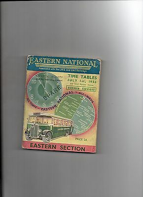 Eastern National Timetables 1936
