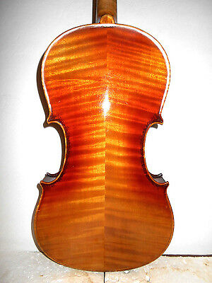 """Nice Antique Old Vintage """"Nippon"""" Curly Maple 2 Pc. Back Full Size Violin - NR"""