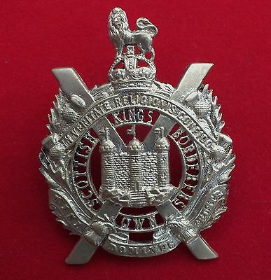 Fretted All Brass (KC) Cast Badge, The King's Own Scottish Borderers.