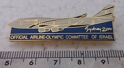 Israel national airlines EL AL sidney 00 olympics official airline badge pin