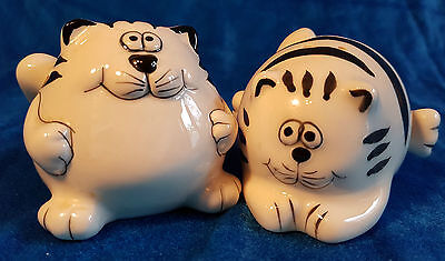 Fat cats salt and pepper shakers