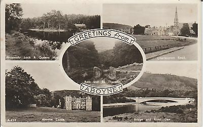 Aboyne - Multi View - Aberdeenshire -Real Photo Early Postcard