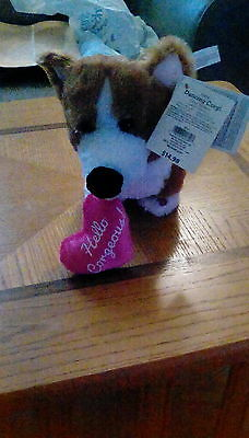 """""""HELLO CORGEOUS"""" Dancing Welsh Corgi for valentine or mothers day"""