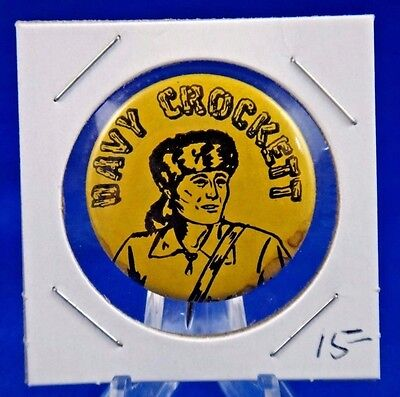 Davy Crockett Pin Pinback Button 1 1/4""