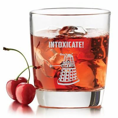 Dr.Who inspired Rocks Glass,INTOXICATE Dalek Dr doctor Who Whiskey glass