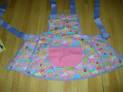 Toddler Girls Handmade cupcake apron 3T 4T 5T dress birthday play food kitchen