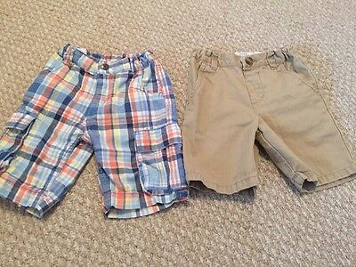Lot of 2 Toddler Boys Children's Place Shorts Size 3T Adjustable Waist