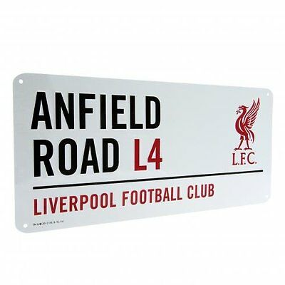 Liverpool LFC Football Club Anfield Road Metal Street Sign Liver Bird Official