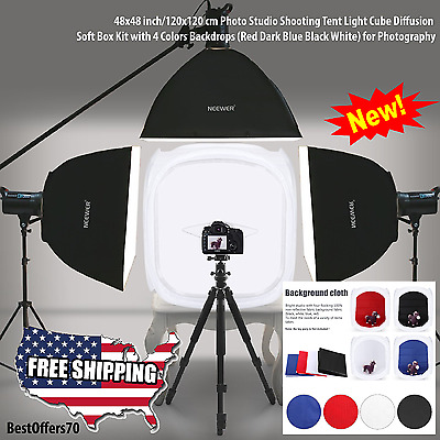 48 Inch-120Cm Photography Light Tent Photo Studio / Cube Light Box + 4 Backdrops