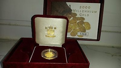 2000 Boxed Proof Gold Half Sovereign With Certificate