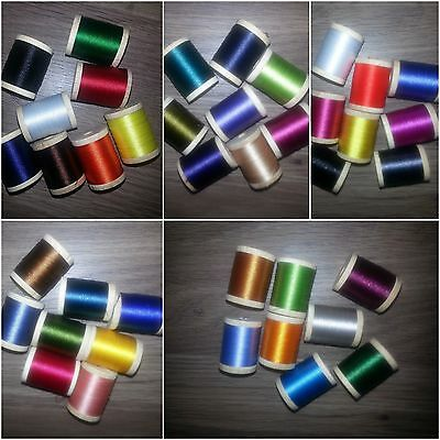 260 spools wrapping thread HUGE COLLECTION rod building 100 YARDS... VERY NICE!