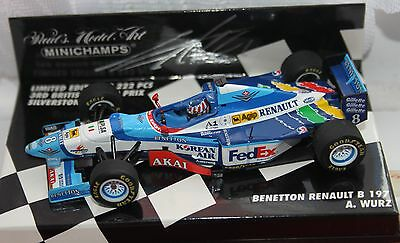 Alexander Wurz Benetton B197 British GP 1:43rd Scale Model  *Signed*