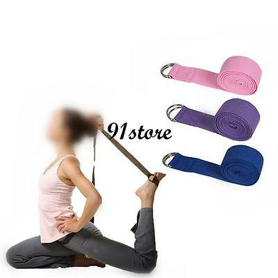 Sport Yoga Stretch Strap D-Ring Belt Gym Waist Leg Fitness 185CM Adjustable