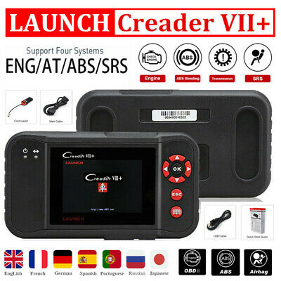 Original Launch X431 Creader VII+ OBDII Scanner Trans SRS ABS Reader As CRP123