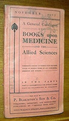 1905 Catalog of Books on Medicine & Applied Sciences, Millersburg PA Vallerchamp