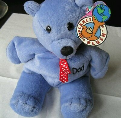 Dad Bear,bean bag plush soft toy/collectable/new/original ,present,blue,