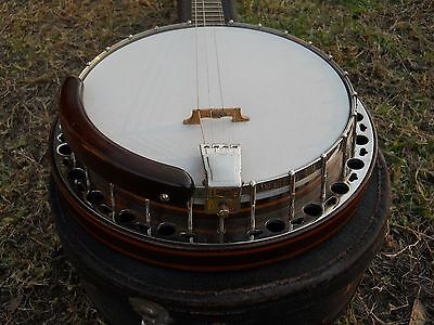 Vintage Tenor Banjo By Gretsch? '30s, '40s, Gold Flake Headstock & Design, Case!