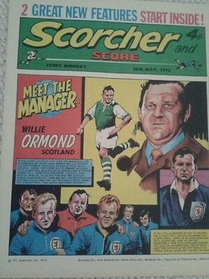 Scorcher and Score comic Willie Ormond meet the manager 26/5/73 plus many more