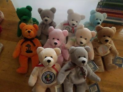 Lot of 10 Bible Holy Bears 1999 2000  9 inches