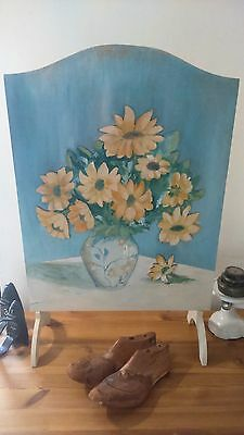 Vintage 1970's Hand Painted Wooden Fire Screen/Guard - Annie Sloan