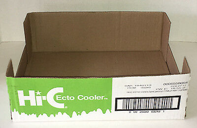 Hi-C Ecto Cooler Juice Box Limited Edition Ghostbusters Store Display Box Case