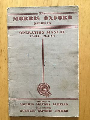 Morris Oxford series II 2 Operation Manual 4th Edition 4/55 1955