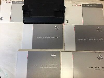 Nissan Altima 2011 Owners Manual Books Original // In Case // Dvd /Free Shipping