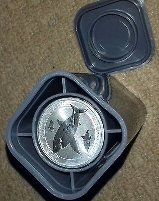 25 x1/2 ounce silver Geat White Shark perth mint coins and tube