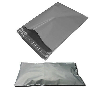"100 Poly Postal Postage Package Mailing Grey Self Seal Mailing Bags  10"" X 14"""