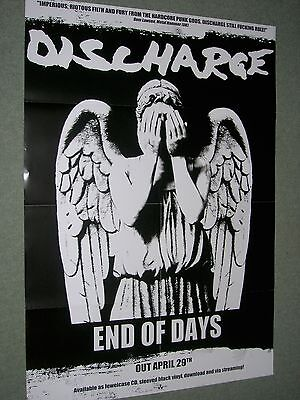 """Discharge / End of Days- Original Large Promotional Poster 33"""" x 23"""""""