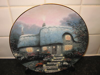 Garden  Cottages  Plate   - Candlelit  Cottage    -    Bradford Exchange