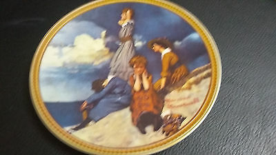 Norman Rockwell Plate - Rockwell's Rediscovered Women - Waiting On The Shore