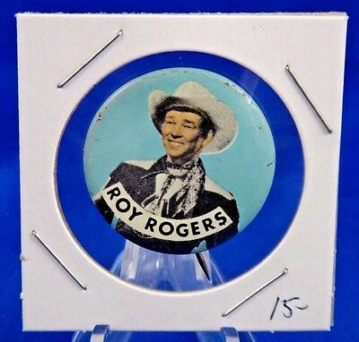 Roy Rogers TV Advertising Pin Pinback Button 1 1/8""