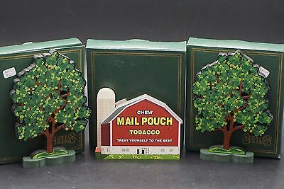 Lot of (3) SHELIAS Collectibles  2 Spring Tree's, 1995 Mail Pouch Barn