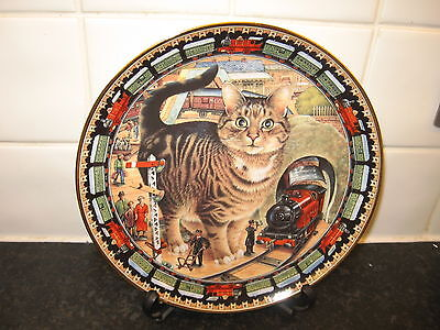 Cats   Plate  -  Skimbleshanks The Railway Cat   -Danbury Mint