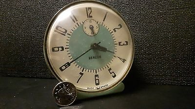 Retro Beacon Wind up Alarm Clock Made in Canada Tacky Green